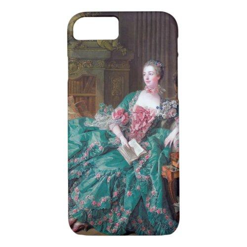 Portrait of Madame Pompadour, Boucher Phone Case