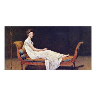 Portrait Of Madame Récamier.,  By Jacques-Louis Da Customized Photo Card