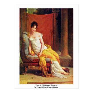 Portrait Of Madame Récamier Post Cards