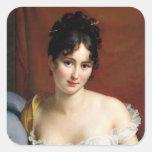 Portrait of Madame Recamier Square Stickers