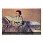 Portrait Of Madame René De Gas By Edgar Degas Print
