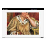"Portrait of Madame Renoir with Bob by Renoir 15"" Laptop Skin"
