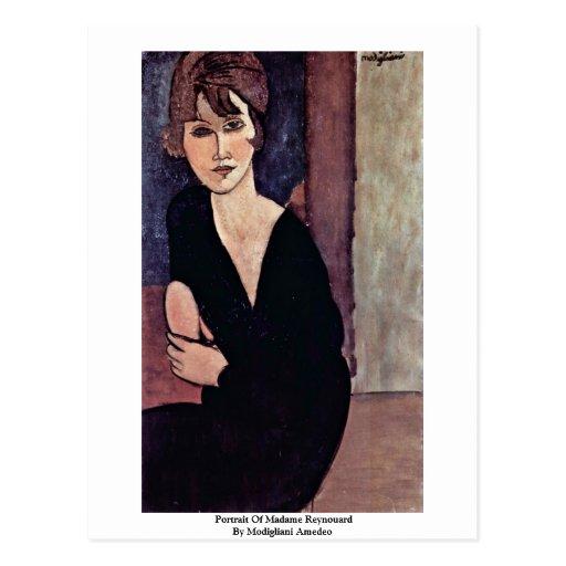Portrait Of Madame Reynouard By Modigliani Amedeo Postcard