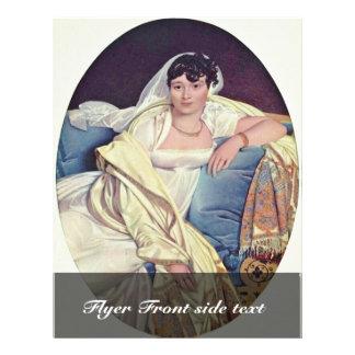 "Portrait Of Madame Rivière,  By Jean Auguste Domin 8.5"" X 11"" Flyer"