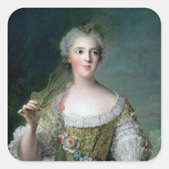 Portrait of Madame Sophie Square Sticker