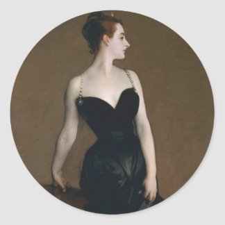 Portrait of Madame X by John Singer Sargent, 1884 Classic Round Sticker
