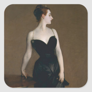 Portrait of Madame X by John Singer Sargent, 1884 Square Sticker