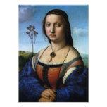 Portrait of Maddalena Doni by Raphael or Raffaello Custom Invite