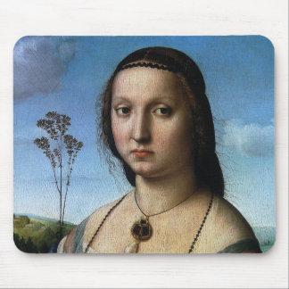Portrait of Maddalena Doni by Raphael or Raffaello Mouse Pad