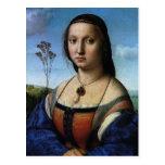 Portrait of Maddalena Doni by Raphael or Raffaello Post Card