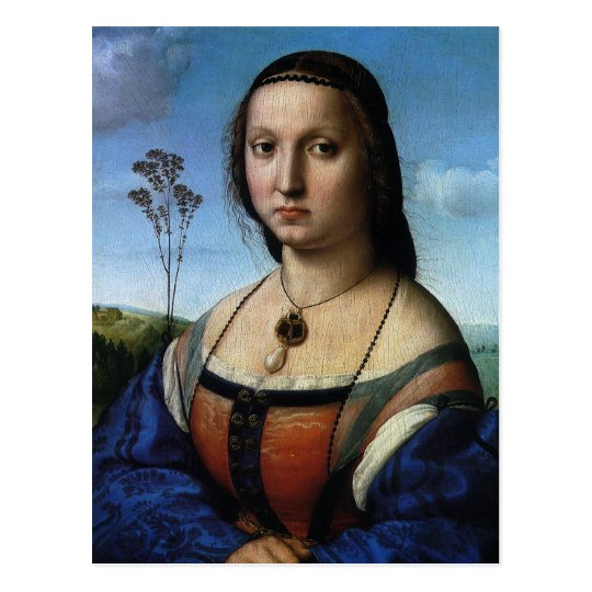 Portrait of Maddalena Doni by Raphael or Raffaello Postcard