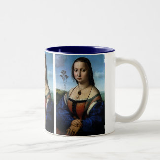 Portrait of Maddalena Doni by Raphael or Raffaello Two-Tone Coffee Mug