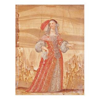 Portrait of Madeleine Bejart  in role of Postcard