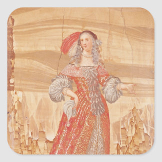 Portrait of Madeleine Bejart  in role of Square Sticker
