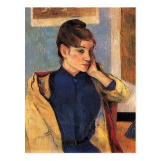 Portrait of Madeline bernard - Paul Gauguin Postcard
