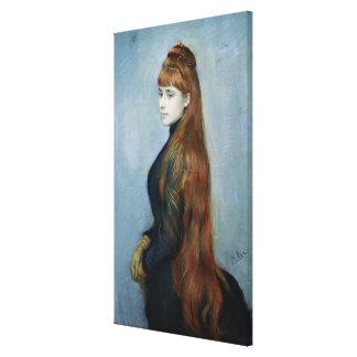 Portrait of Mademoiselle Alice Guerin Canvas Print