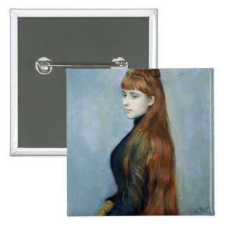 Portrait of Mademoiselle Alice Guerin Pinback Button