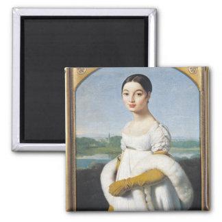 Portrait of Mademoiselle Caroline Riviere  1805 2 Inch Square Magnet