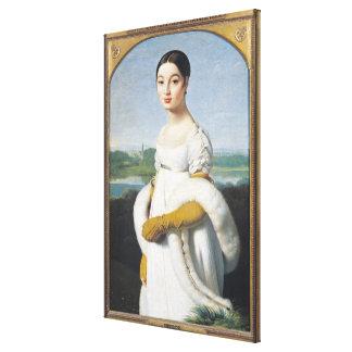 Portrait of Mademoiselle Caroline Riviere  1805 Canvas Print