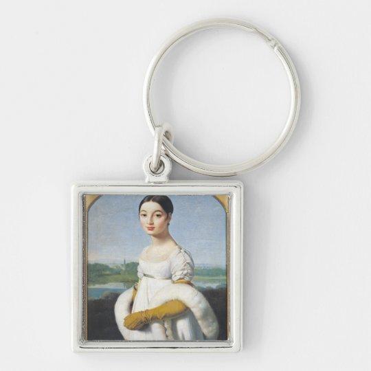Portrait of Mademoiselle Caroline Riviere  1805 Keychain