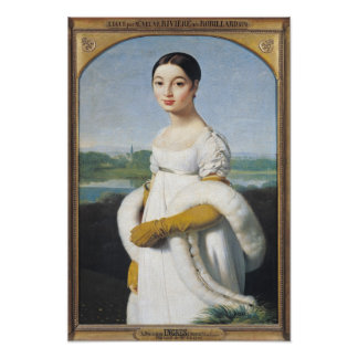 Portrait of Mademoiselle Caroline Riviere  1805 Poster