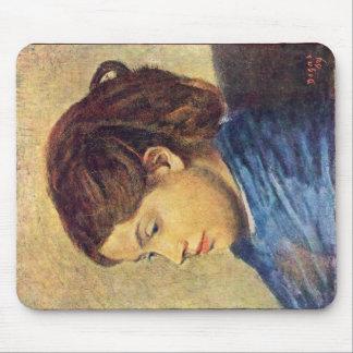 Portrait Of Mademoiselle Dobigny By Edgar Degas Mouse Pads