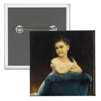 Portrait of Mademoiselle Franchetti, 1877 Pinback Button