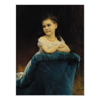 Portrait of Mademoiselle Franchetti, 1877 Poster