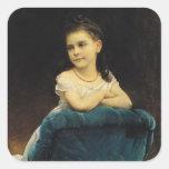 Portrait of Mademoiselle Franchetti, 1877 Square Sticker