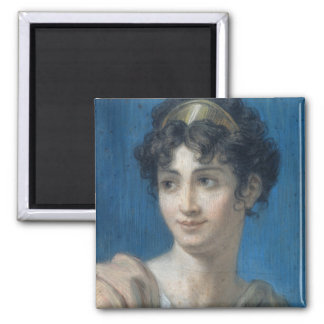 Portrait of Mademoiselle Georges 2 Inch Square Magnet