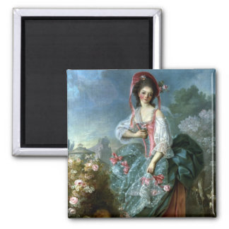 Portrait of Mademoiselle Guimard as Terpsichore, c 2 Inch Square Magnet
