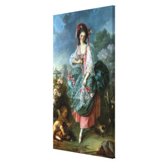 Portrait of Mademoiselle Guimard as Terpsichore, c Canvas Print