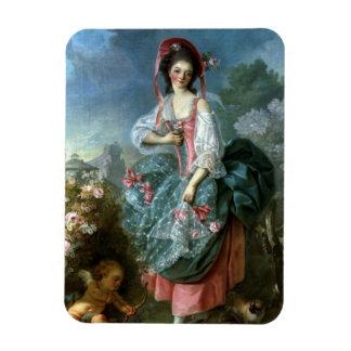 Portrait of Mademoiselle Guimard as Terpsichore, c Rectangular Photo Magnet