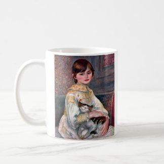 Portrait of Mademoiselle Julie Manet by Renoir Classic White Coffee Mug