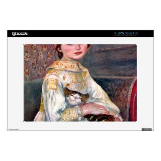 Portrait of Mademoiselle Julie Manet by Renoir Laptop Skin