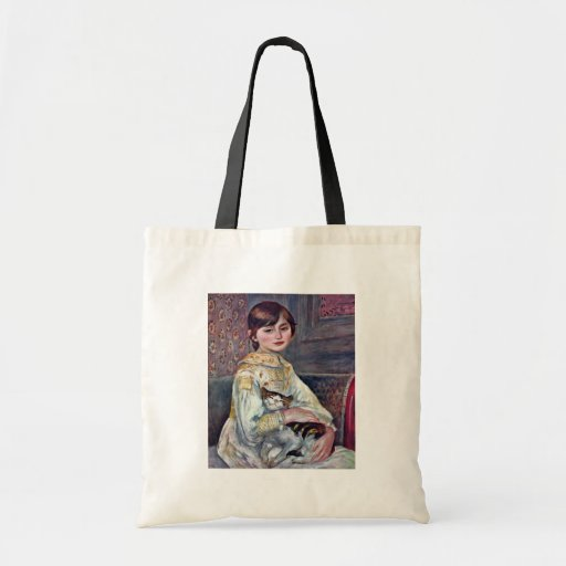 Portrait Of Mademoiselle Julie Manet With Cat Bag