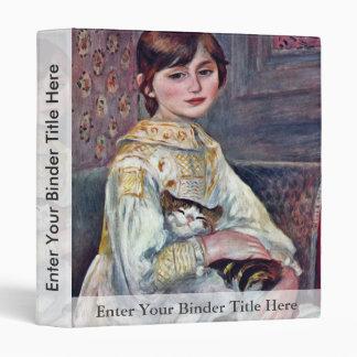 Portrait Of Mademoiselle Julie Manet With Cat Vinyl Binders