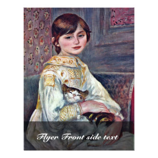 Portrait Of Mademoiselle Julie Manet With Cat Flyer