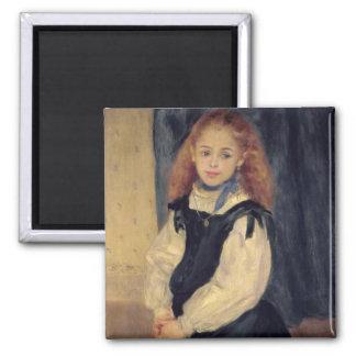 Portrait of Mademoiselle Legrand 2 Inch Square Magnet