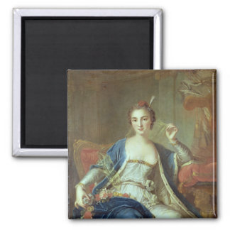 Portrait of Mademoiselle Marie Salle  1737 2 Inch Square Magnet
