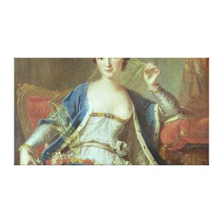 Portrait of Mademoiselle Marie Salle  1737 Canvas Print
