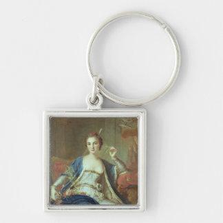 Portrait of Mademoiselle Marie Salle  1737 Keychain