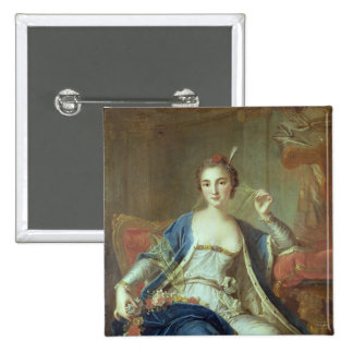 Portrait of Mademoiselle Marie Salle  1737 Pinback Button
