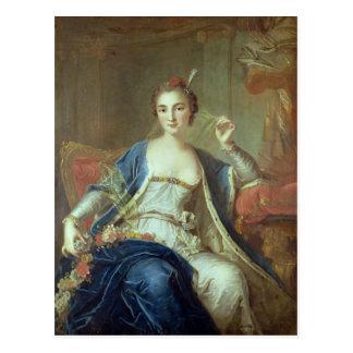 Portrait of Mademoiselle Marie Salle  1737 Postcard
