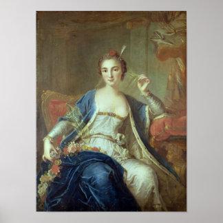 Portrait of Mademoiselle Marie Salle  1737 Poster