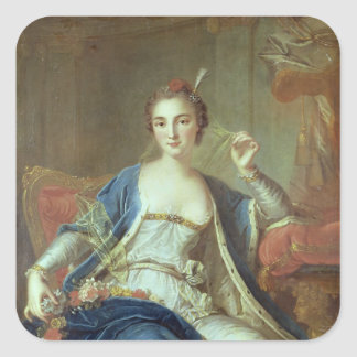 Portrait of Mademoiselle Marie Salle  1737 Square Sticker