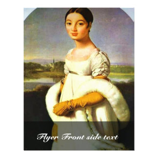 Portrait Of Mademoiselle Riviere By Ingres Jean Au Personalized Flyer