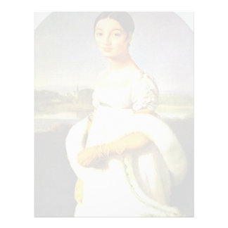 Portrait Of Mademoiselle Riviere By Ingres Jean Au Customized Letterhead
