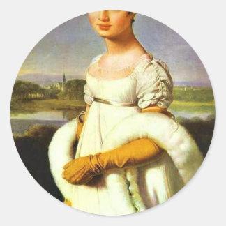 Portrait Of Mademoiselle Riviere By Ingres Jean Au Sticker