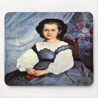 Portrait of Mademoiselle Romaine Lancaux by Renoir Mouse Pad